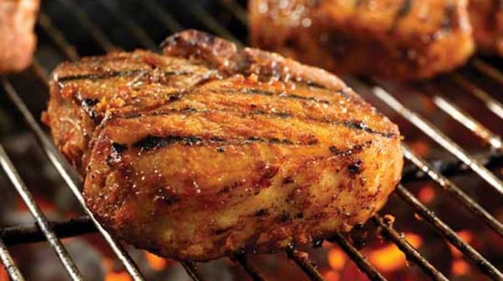Grilled Orange Pork Chops