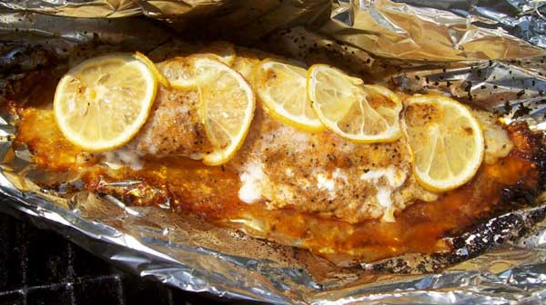 Foil Pack Grilled Fish