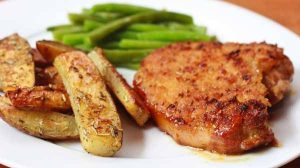 Fried Maple Pork Chops