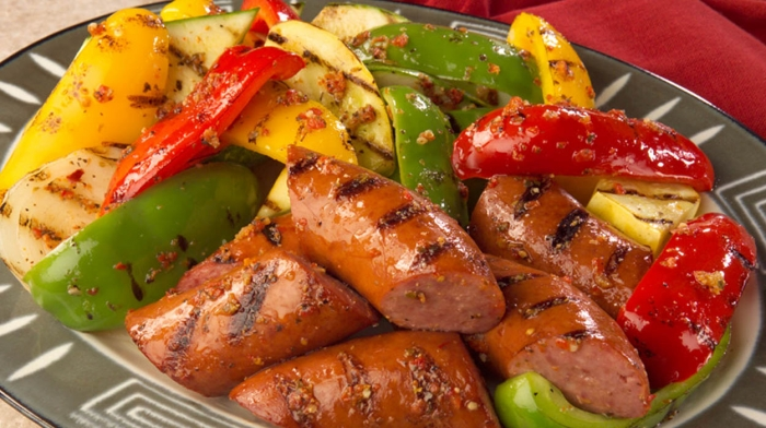 Grilled Veggies and Smoked Sausage