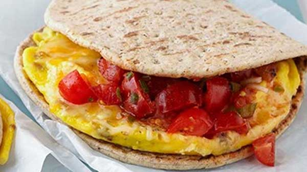 Scrambled Egg Flatbread Tacos