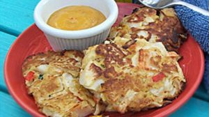 Simple Crab Cakes & Creole Sauce